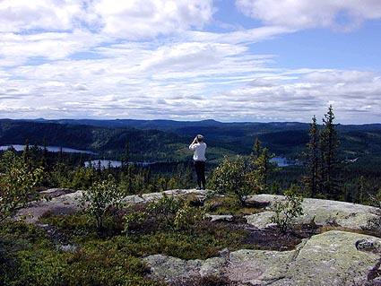 MYE Å SE: På Kolleren, kanskje det fineste utsiktspunkt nord i Nordmarka.