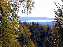 En smule utsikt mot fjorden og Nesodden.