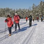 På klassisk grunn: Travelt over Glåmene en februatdag i 2011. Foto: VESLE-BERNHARD