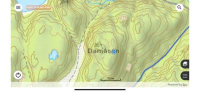 Damåsen kart